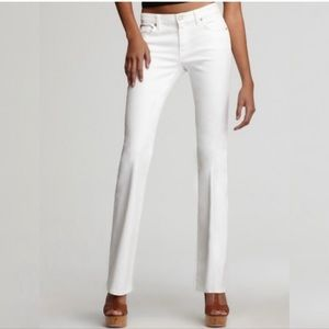 7FAM White Bootcut Jeans